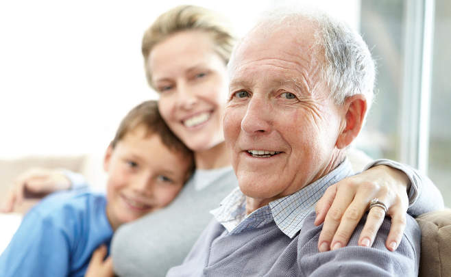 elderly man daughter